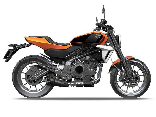 A végleges Harley modell valószínűleg egy ehhez hasonló, hagyományosabb kinézettel érkezik majd.