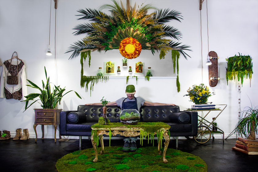 A növények nem csak cserépben mutatnak jól: zseniális, amit ez a fickó művel velük