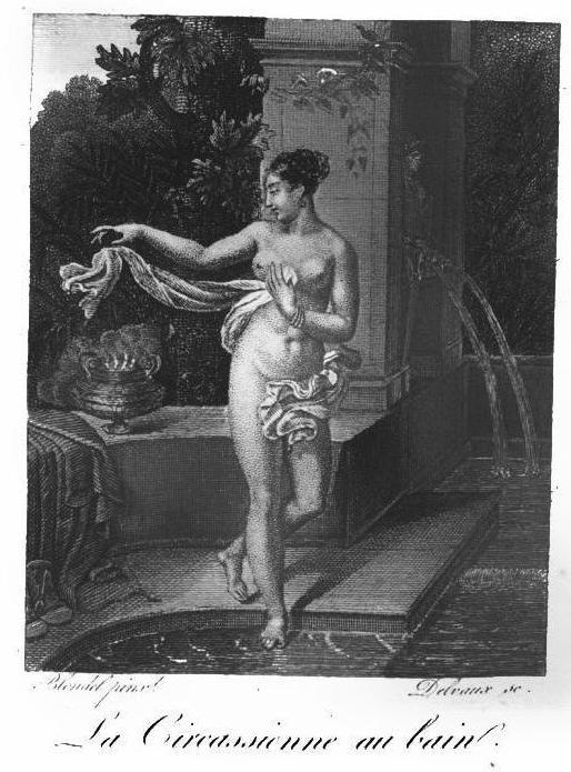 A festmény Almanach des Dames című kiadványban megjelent reprodukciója, 1823.