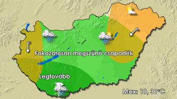 Eső, zápor, zivatar, szél és 19-től 31 fokig bármi lehet ma