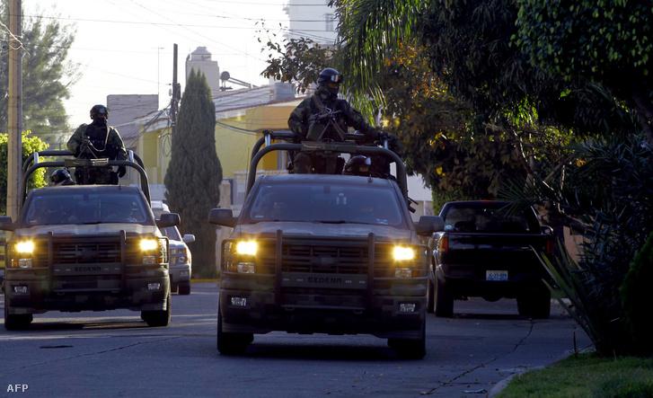 Mexikói katonák letartóztatták Ruben Oseguera Gonzalez-t a Jalisco kartell vezetőjének fiát Mexikóban, 2014. január 30-án.