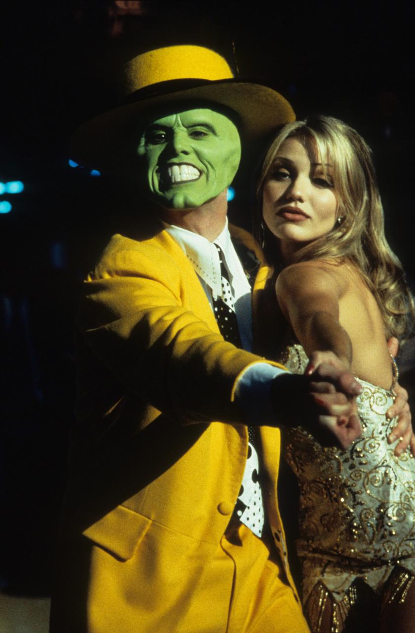 Cameron Diaz és Jim Carrey az 1994-es A maszk című filmben.