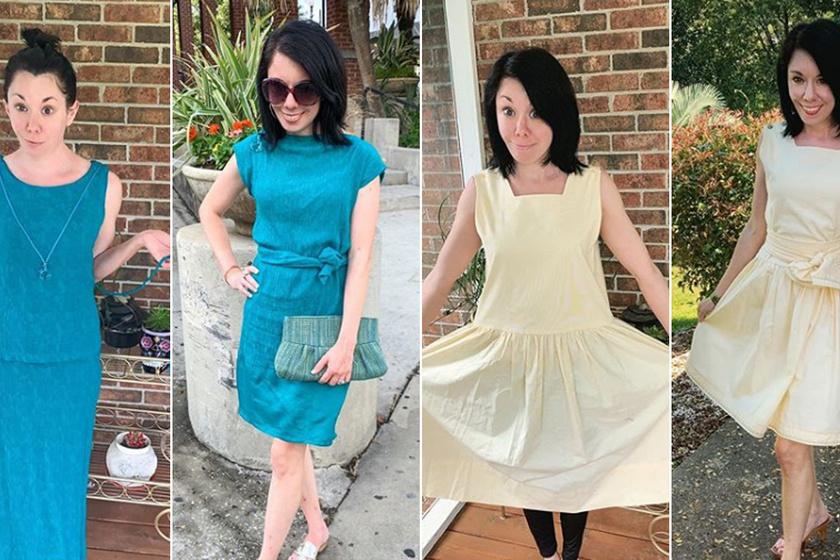Divatjamúlt használt ruhákból varázsol sikkes darabokat a fiatal nő: fotókon az átalakítások