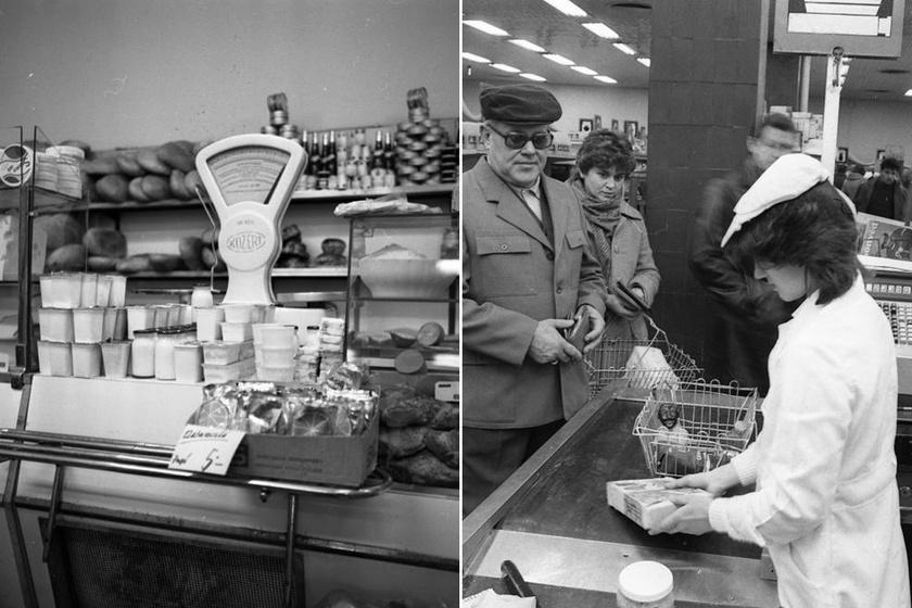 Képeken a '70-es '80-as évek boltjainak feledhetetlen hangulata: még az orrunkban van a kávé illata