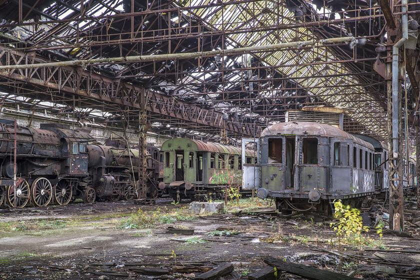 Elhagyatott vasútállomás, Magyarország.