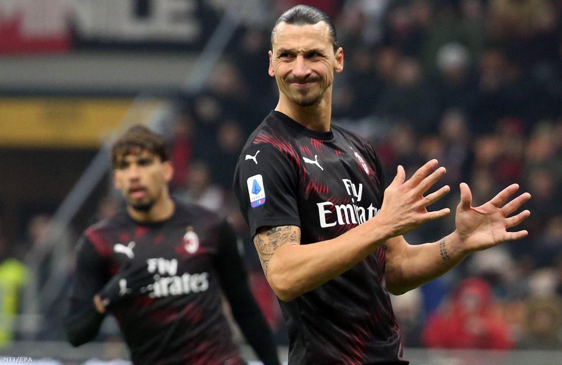 Zlatan Ibrahimovic az AC Milan csatára a Sampdoria ellen az olasz első osztályú labdarúgó-bajnokságban játszott 2020. január 6-i mérkőzésen