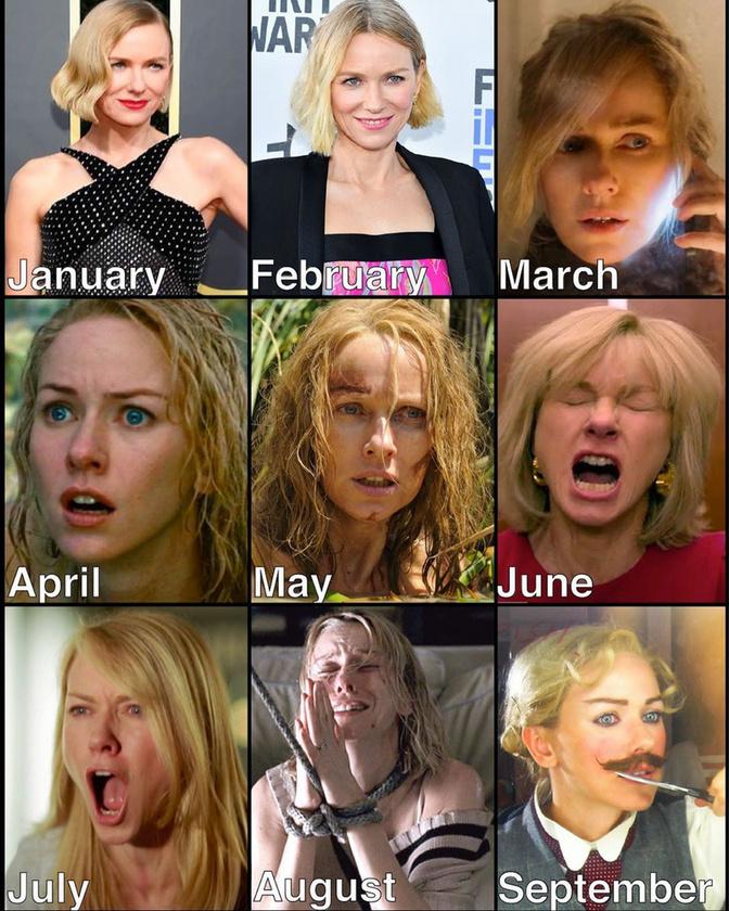 Naomi Watts mintha február óta nem tudná becsukni a száját, de biztosan nem ez volt az üzenet