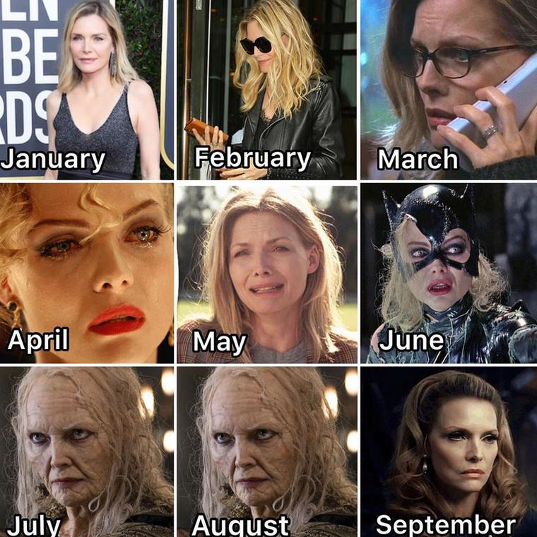 Michelle Pfeiffer most van a mélyponton, de ha hihetünk a prognózisának, szeptemberre kipendíti magát.