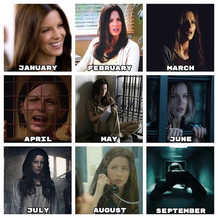 """""""Micsoda év! És még csak augusztus van"""" - írta emellé Kate Beckinsale, aki hamarosan világgá megy, ha kell, a szellőzőn át."""