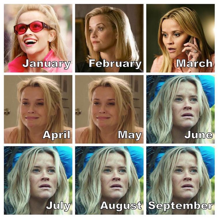 Reese Witherspoon kéthavi szomorkodás után jutott el a mélypontra, és úgy véli, ez szeptemberben is így lesz.