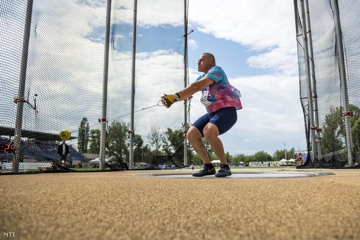 Pars Krisztián kalapácsvető a Gyulai István Memorial nemzetközi atlétikai versenyen Székesfehérváron 2017. július 4-én