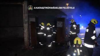 Tűz volt egy pirotechnikai eszközöket tároló raktárban Csepelen