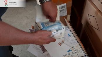 100 ezer silány védőeszközt talált a NAV egy szlovák kamionban