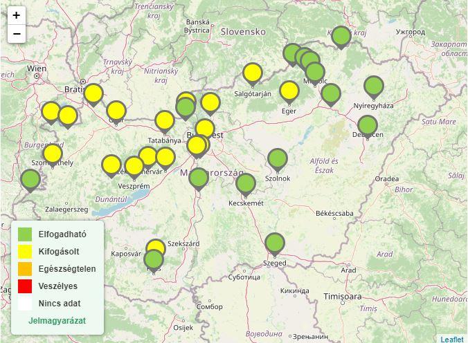 Az alábbi települések érintettek 2020 augusztus 10-én.