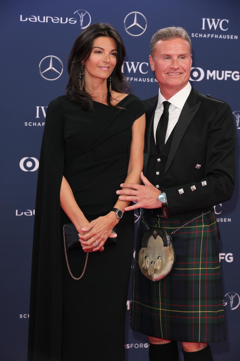 David Coulthard és Karen Minier 2005 óta alkotnak egy párt.