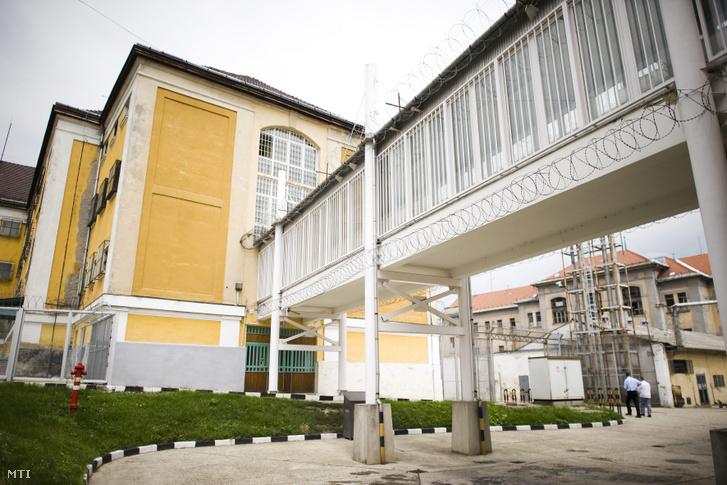 A Sátoraljaújhelyi Börtön és Fegyház udvara.