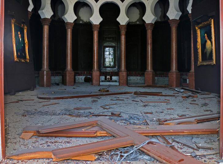 A Sursock Múzeum a robbanást követően
