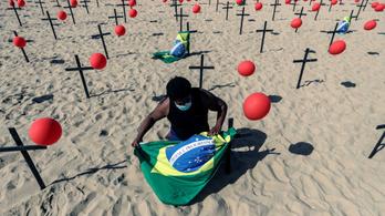 Brazíliában már meghaladta a 100 ezret a koronavírus miatt elhunytak száma