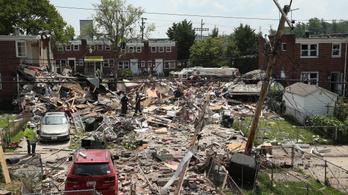 Lakóházak robbantak fel Baltimore-ban, egy ember meghalt, többen megsérültek