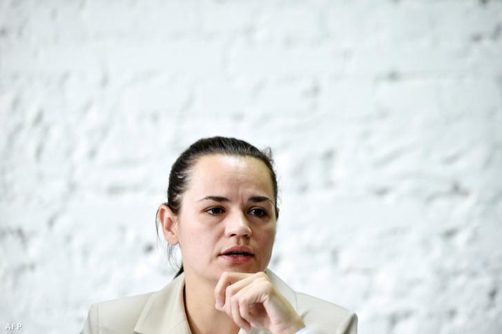 Szvetlana Tyihanovszkaja 2020. augusztus 10-én.