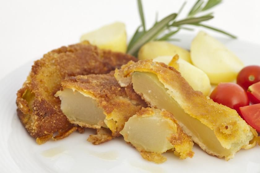 Fűszeres bundában sült patisszon: tartármártással még finomabb