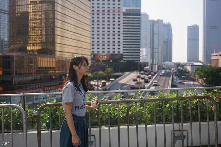 Agnes Chow, Hongkong központja közelében 2017. augusztus 29-én.
