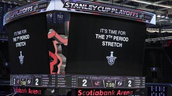Több rekordot is megdöntött az NHL maratoni meccse