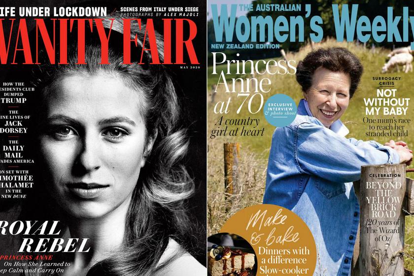 Anna hercegnő előtt a Vanity Fair egy fiatalkori, míg a Women's Weekly egy friss fotójával tisztelgett 70. születésnapja alkalmából.