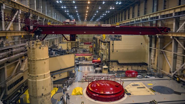 A Paksi Atomerőmű négyes (előtérben) és hármas (háttérben) reaktora 2019. június 25-én. MTI/Sóki Tamás