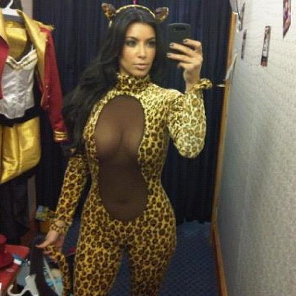 Kardashian leopárdként