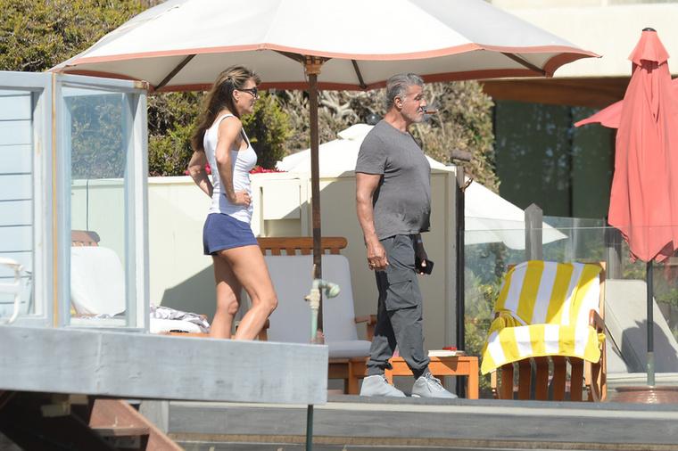 Sylvester Stallone és családja Malibu partjainál pihentek a napokban