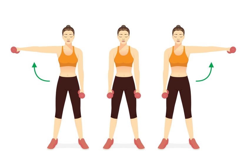Állj enyhe terpeszbe, húzd ki magad, előbb az egyik, utána a másik karodat emeld fel fokozatosan, majd lassan ereszd le.