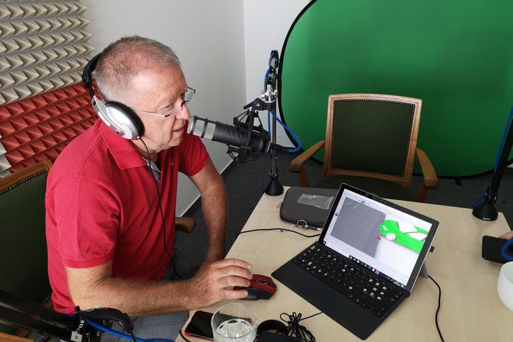 Boncsér Sándor a stúdióban