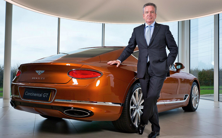 Adrian Hallmark, a Bentley vezérigazgatója