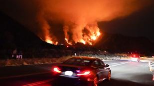 Extrém lángvihar dúlja Kaliforniát