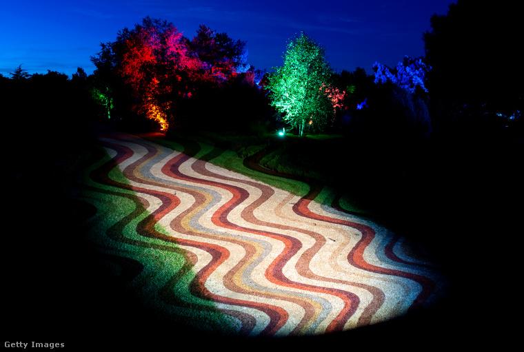 Az ösvényeket pedig, hogy még a séta se legyen annyira unalmas, ilyen hullámzó mintákkal látták el