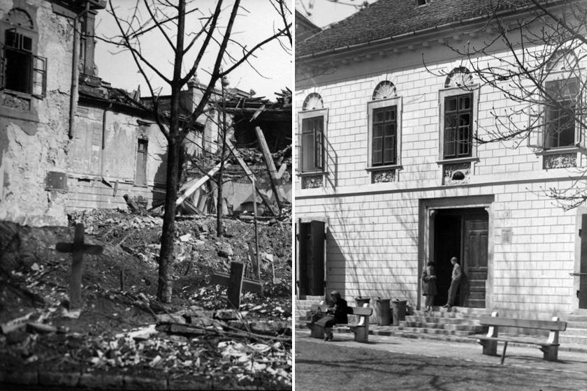 A Vörös Sün Ház a II. világháború során komolyan sújtott környéken csak kisebb sérüléseket kapott.