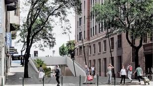 Elkezdték a Széll Kálmán téri átjáró építését