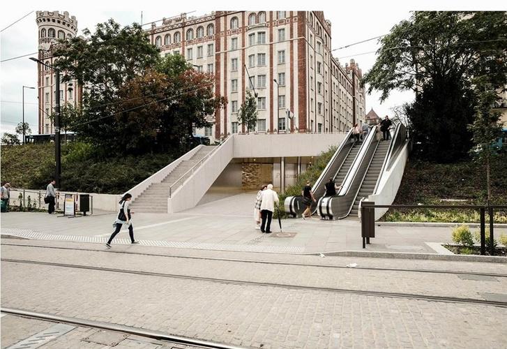 Az új átjáró látványterve a Széll Kálmán tér felől