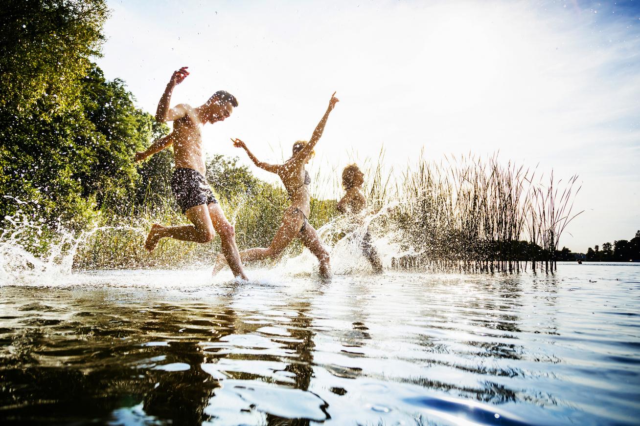 tó strand fürdés