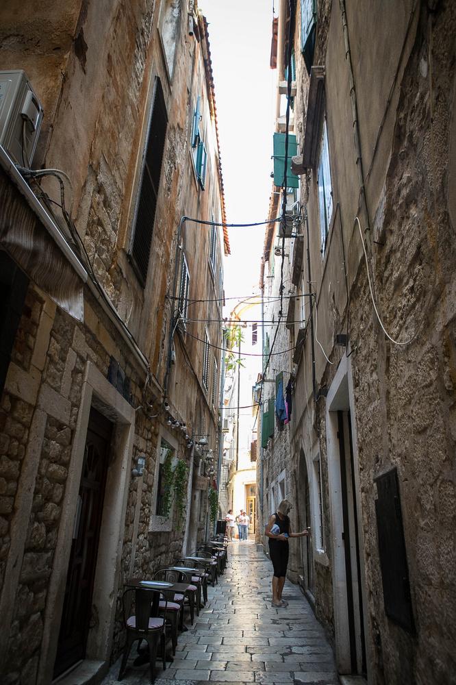 Split óvárósában rengeteg ilyen hangulatos szűk is utcával találkozhatunk