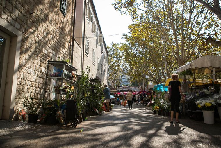 Split piacának egyik része