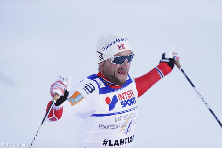 Petter Northug norvég sífutó egy 2017-es versenyen.