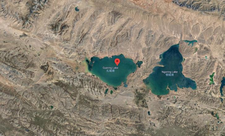 A Gjaring-tó Kinában
