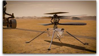 A NASA feltöltötte az űrben a marshelikopter aksiját