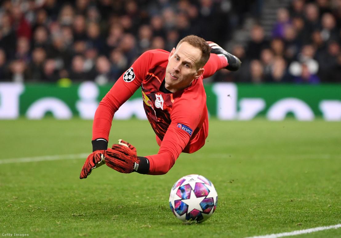 Gulácsi a Tottenham elleni meccsen 2020 február 19-én