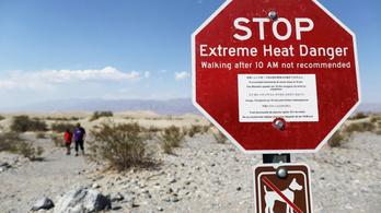 Újabb melegrekord dőlt meg az amerikai Halál-völgyben