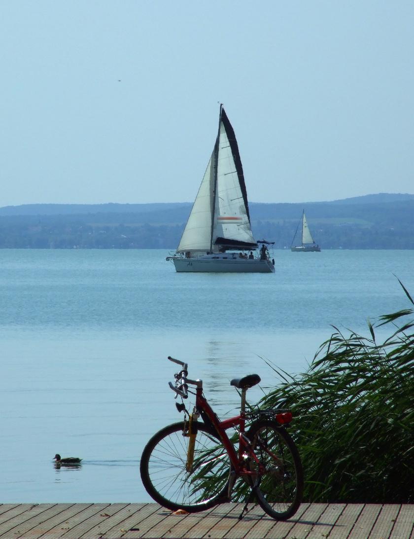 Megnőtt a kerékpárosforgalom a Balatonon.