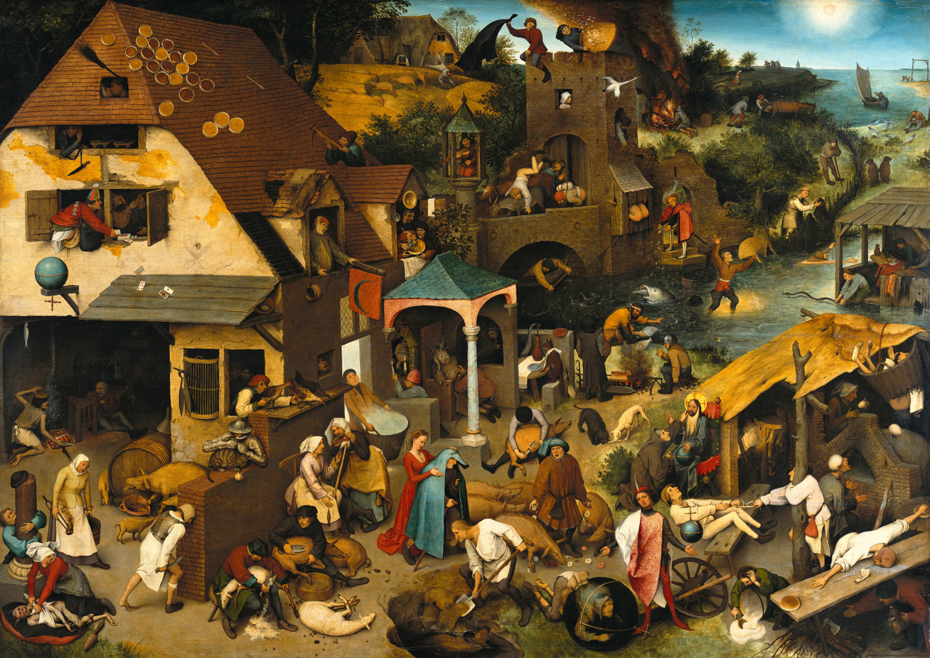 Pieter Brueghel the Elder - The Dutch Proverbs - Google Art Proj