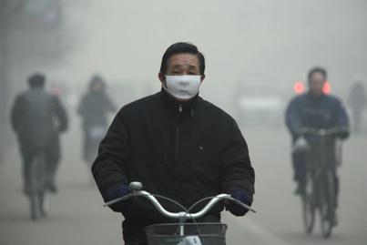 kína légszennyezettség bicikli